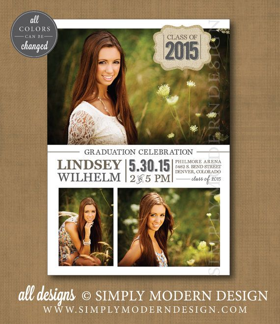 graduation announcement or invitation open house graduation