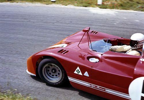 Toine Hezemans in an Alfa Romeo 33 • Targa Florio 1971 winner of race.