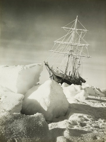 Shackleton Expedition to the South Pole in 1915 taken by Frank Hurley  The ship is the Endurance