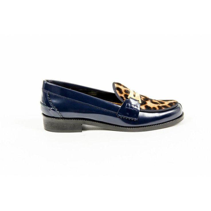 Multicolor 37 EUR - 7 US Avec Moderation Womens Loafer FRIDA BLUE LEOPARD