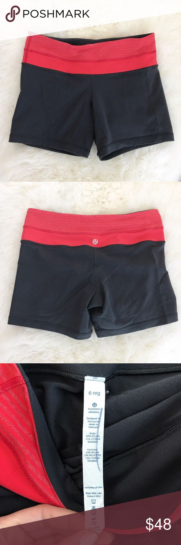 Lululemon Fitted Gray Athletic Shorts Fitted stretch silhouette. Set in stretch waistband with interior hidden pocket. Fit as a true size 6. NO TRADES. lululemon athletica Shorts