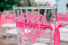 Wedding chair decor  Жизнь в розовом цвете свадьба Анжелы и Алексея