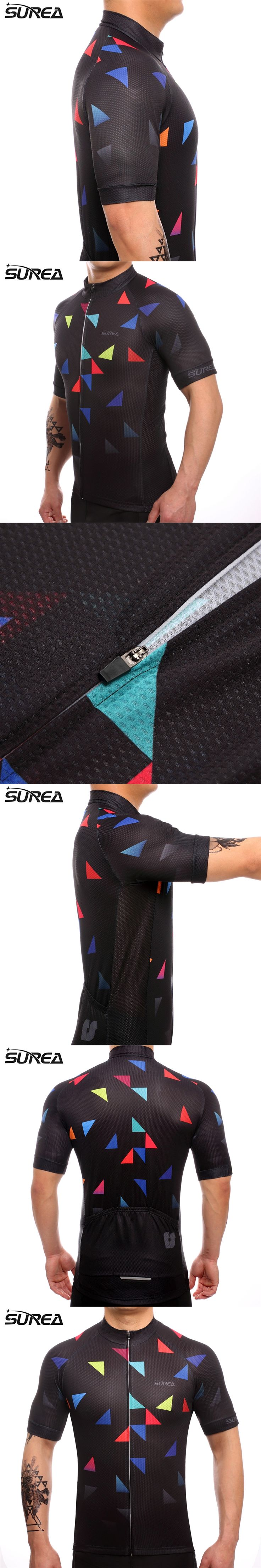 SUREA 2017 Cycling jersey Summer Bicycle Clothing Maillot Ropa Ciclismo Hombre Short Sleeve Mountain Bike Sportswear