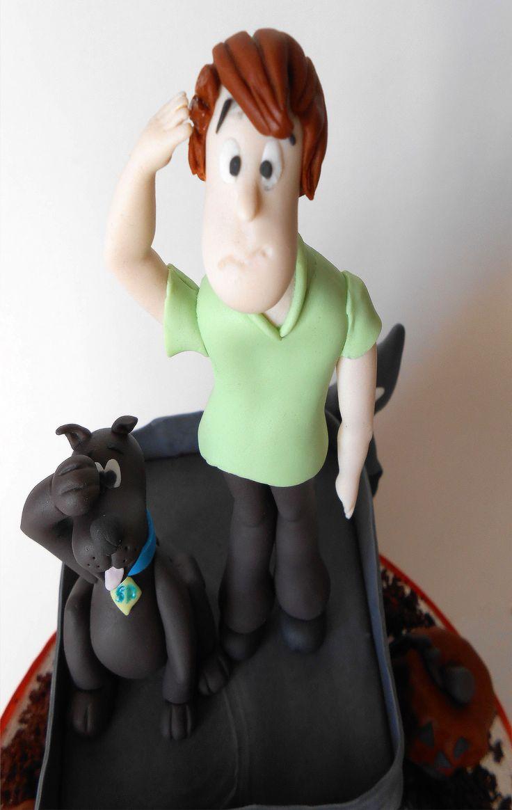 Shaggy e Scooby sugarpaste decorati a mano