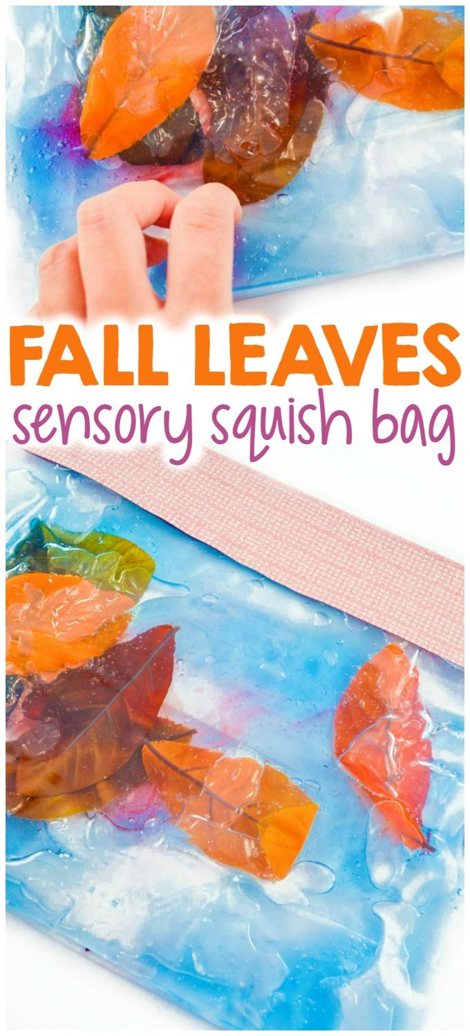 Fall Leaves Squish Bags for Kids