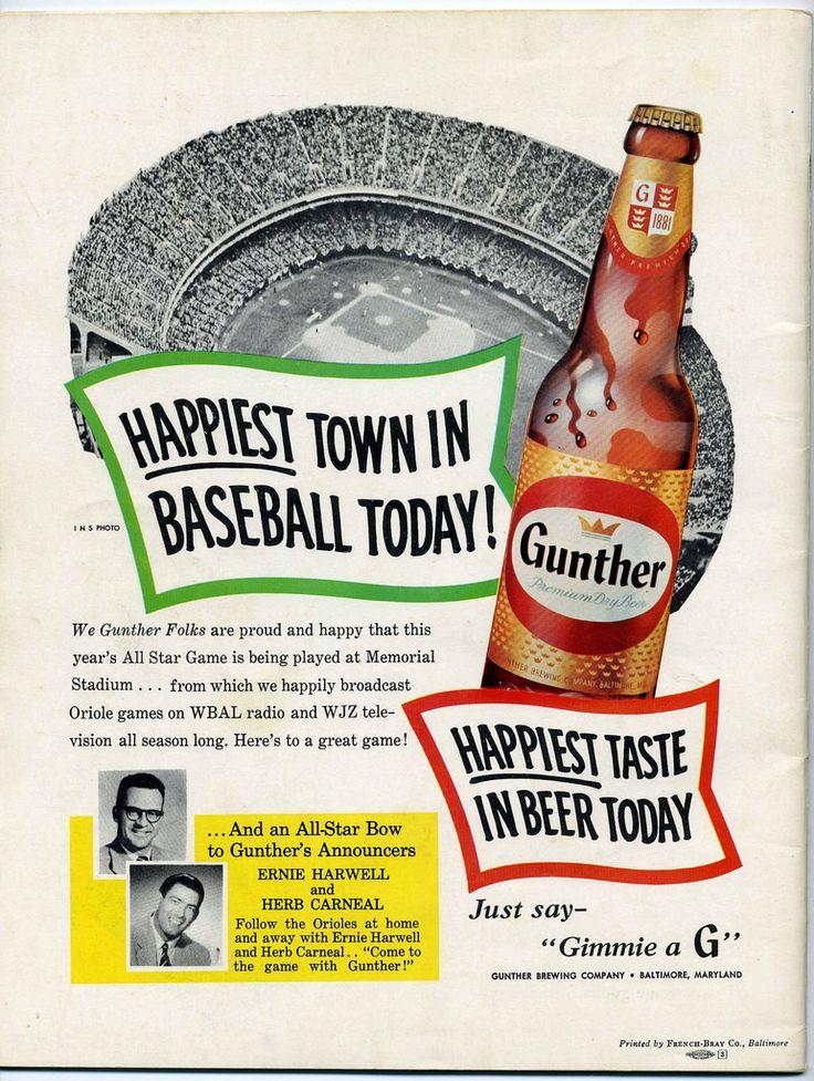 Gunther Beer. (With images) Beer ad, Beer, Vintage beer
