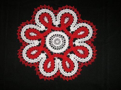 multicolor Bruges lace