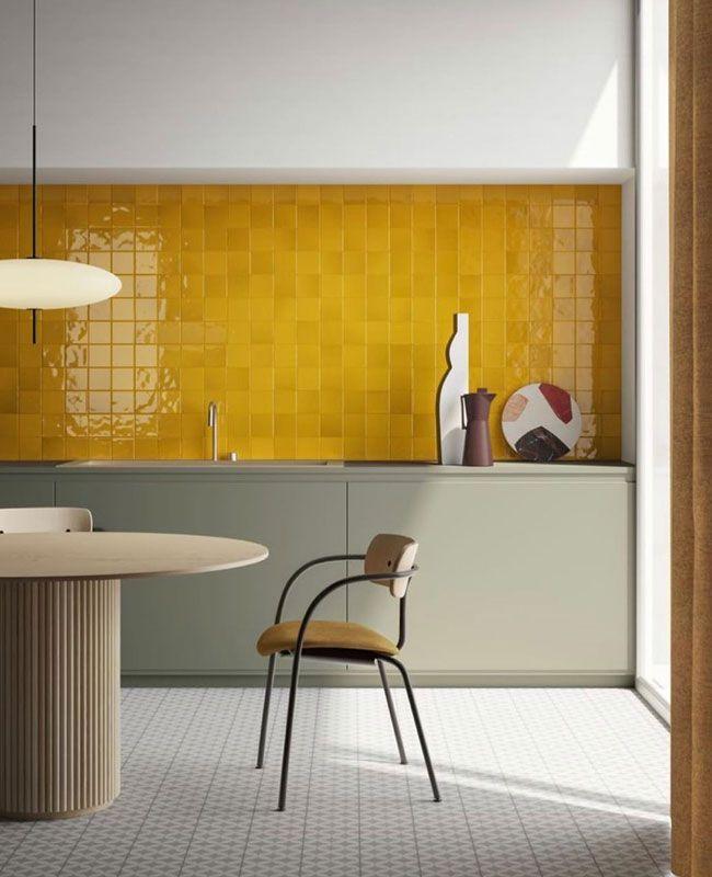 deco cuisine jaune cuisine moderne