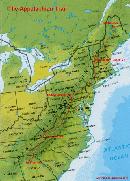 The Appalachian Trail, over 2,000 miles of walking covering 14 states in the world's oldest mountain range.  A dream!