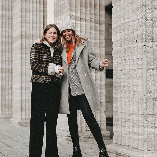 Streetstyle Winter Outfit Inspiration grauer Mantel