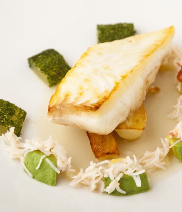 This halibut recipe is a wonderfully light, fresh and delicate fish dish with an Asian scented broth from Kevin Mangeolles