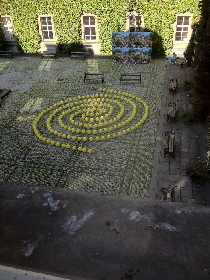 Clementinum Courtyard in Prague