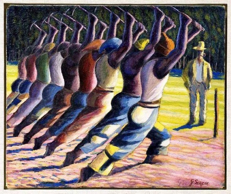 Hakkens Song oil painting by Gerhard Sekoto 1946-47