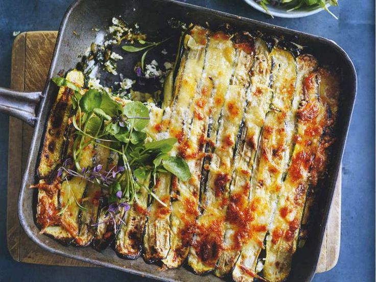Roasted zucchini lasagne from Life in Balance by Donna Hay.