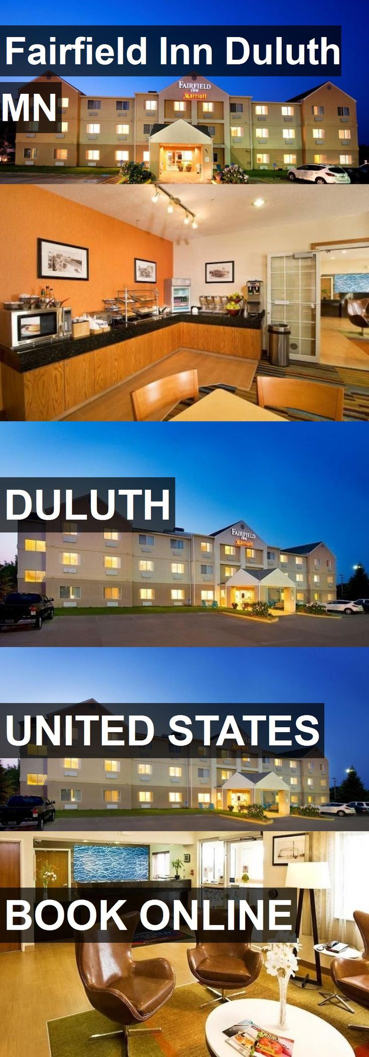 Hotel Fairfield Inn Duluth MN in Duluth, United States. For more information, photos, reviews and best prices please follow the link. #UnitedStates #Duluth #travel #vacation #hotel