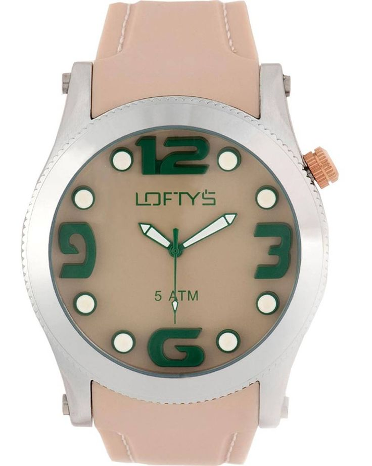 XL Watch with Beige Silicone Strap Y 3403LB - https://www.loftyswatches.com/shop/xl-watch-beige-silicone-strap-y-3403lb/