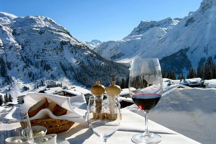 Lech Austria :) Clearly not for the beginner skier/snowboarder however breath-taking views and delicious restaurants surround the slopes! (I recommend the Germknödel as a delicious treat!)
