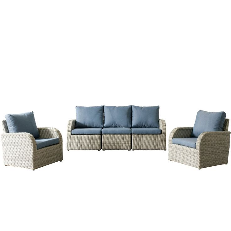 Brisbane 5pc Resin Wicker Sofa and Chair Patio Set with ...