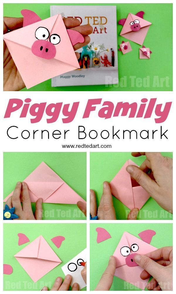 Pig Corner Bookmark Diy Bookmark Crafts Pinterest Bookmarks