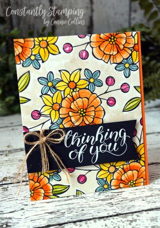 Card designed by Connie Collins at ConstantlyStamping.com using Falling Flowers and Count My Blessings stamp sets by Stampin' Up! #gdp112