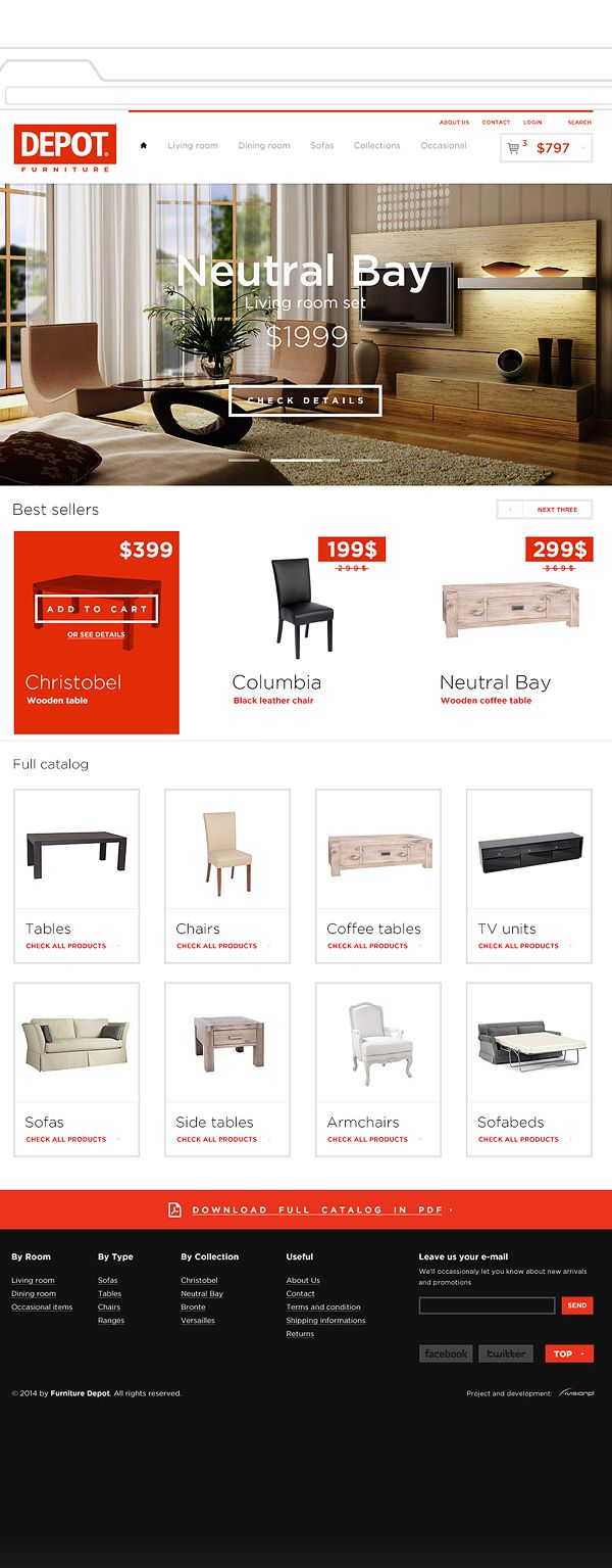 Furniture Depot on Behance