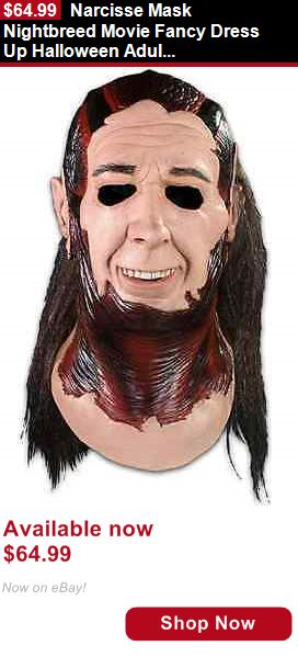 Costumes and reenactment attire: Narcisse Mask Nightbreed Movie Fancy Dress Up Halloween Adult Costume Accessory BUY IT NOW ONLY: $64.99