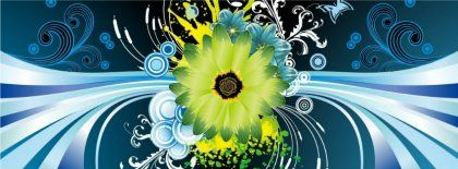 Flower Vector Design Hd Fb Timeline Cover 851x315 Facebook Covers