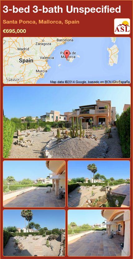 3-bed 3-bath Unspecified in Santa Ponca, Mallorca, Spain ►€695,000 #PropertyForSaleInSpain