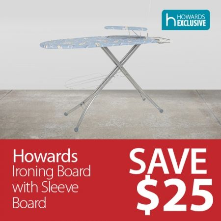 Howards Storage World | MEMBER OFFER: Save $25 On Howards Ironing Board with Sleeve Board
