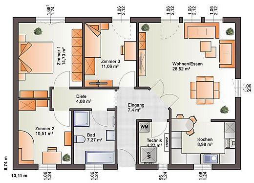 Grundriss Erdgeschoss One 97