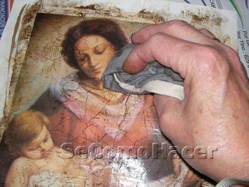 Técnica de craquelado sobre láminas decorativas