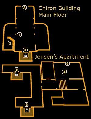 deus ex human revolution jensen apartment map view - Google Search