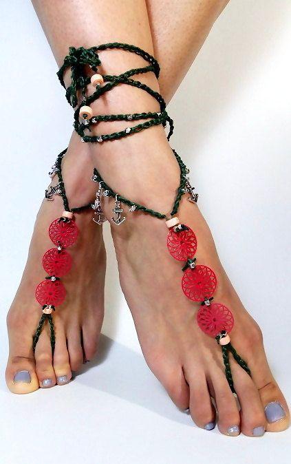 Barefoot SandalsWedding barefoot Sandals by SantoriniBarefoot