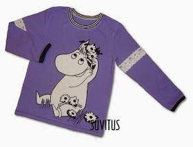 Appliqued Moomin shirt by Suvitus