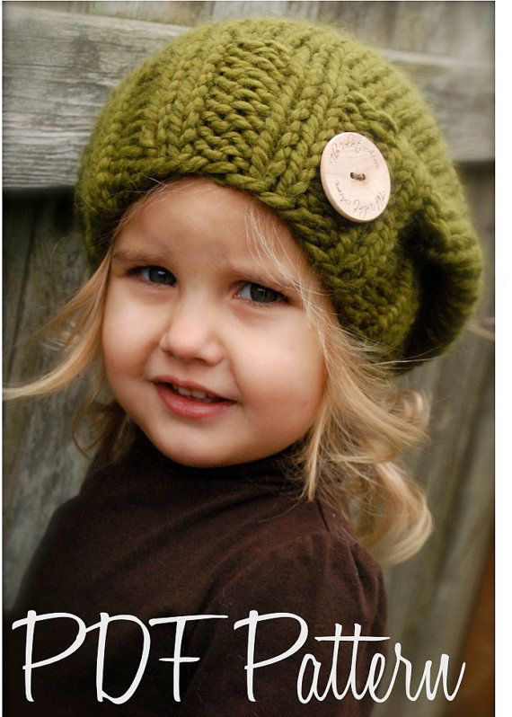 Knitting PATTERN-The Sydnie Slouchy (pattern includes sizes for: toddler, child and adult)