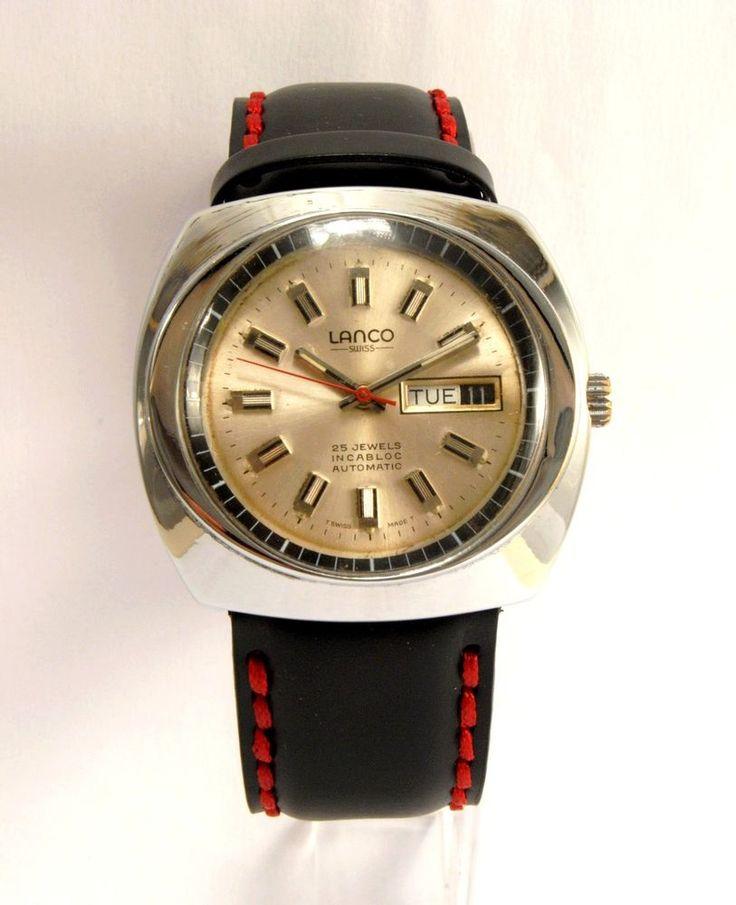 LANCO Swiss Vintage Watch in Biżuteria i zegarki, Zegary/zegarki kolekcjonerskie, Zegarki na rękę (do 1970)   eBay