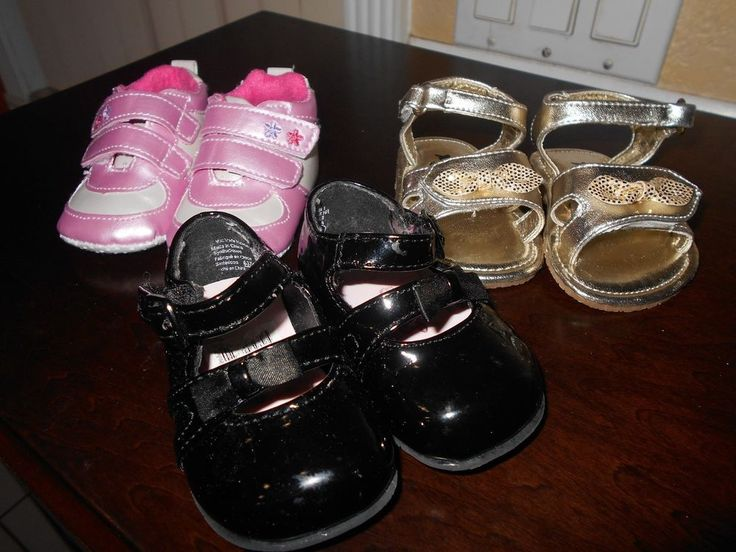 Baby Girl's Shoes Size 1  Lot of 3!!