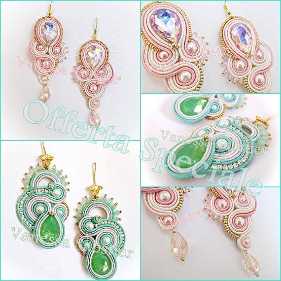 Earrings Queen Rose + Reve de Printemps Greem in vendita sul mio Negozio Etsy ... https://www.etsy.com/it/listing/245137424/earrings-queen-rose-earrings-reve-de