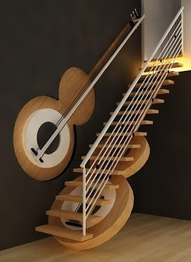 Guitar Staircase by creativegenie. ♥✤ | Keep the Glamour | BeStayBeautiful