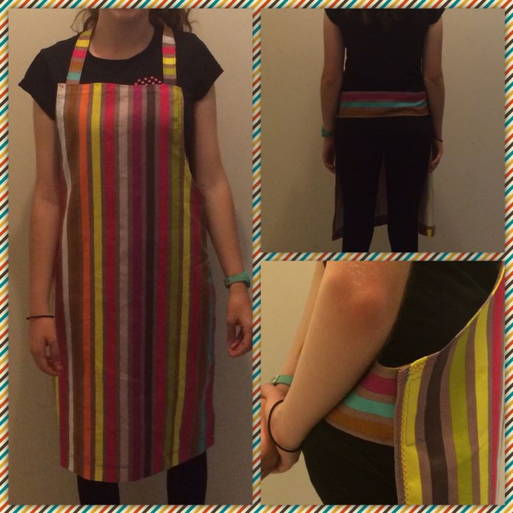Teacher gift apron with Velcro fastening instead of ties.