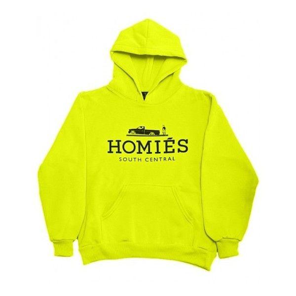 Bright yellow hoodie