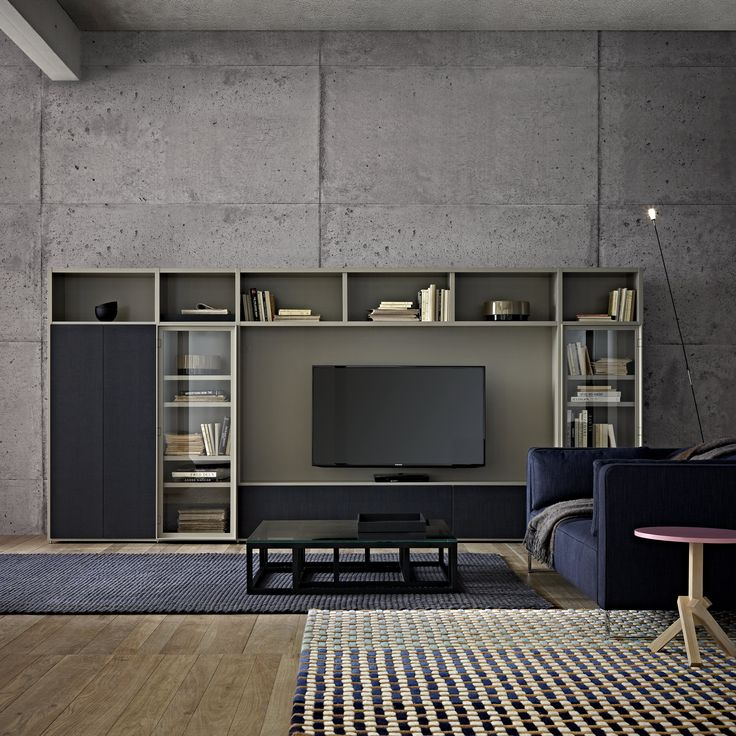 'Et Cetera' is a vertically-constructed programme (assemblies of side panels, shelves, back panels and fronts) in the same vein as Variations and Square which came before it. A range of shelving, it is further enriched by the additional functions of an occasional unit: storage (opaque or glass doors, shelves, drawers), TV equipment & lighting.  The name Et cetera evokes its dimensional possibilities: one can always add to its height or width, tailoring it perfectly to your requirements.