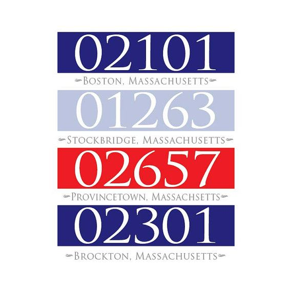 Great gift for new homeowners or apartment gift.  Personalized zip code wall art address map by NurseryArtGallery
