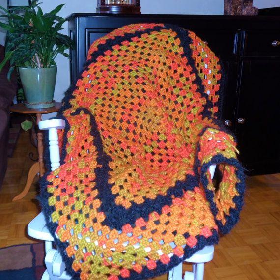 Crochet blanket crochet afghan crochet by PattisPlaceinOntario