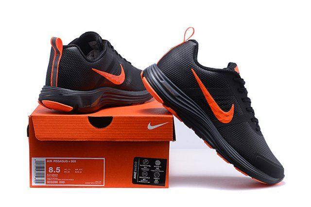 Nike AIR ZOOM Pegasus 30 Leather BlackOrange Men's Running