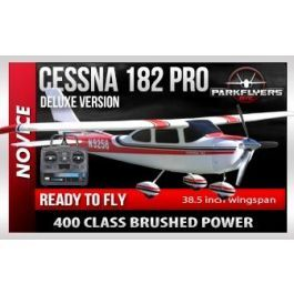 "The new Cessna 182 Pro Deluxe Electric rc plane is one of our ""BEST SELLING"" trainers that we have. The  included brushed 480 Himag motor provides 20% power than a standard speed  400 motor. (The 480 Himag is a long can version of a speed 400 motor)  100% True Scale Dimensions and Proportions Our Cessna 182 has real scale proportions unlike some other companies  versions of the classic Cessna 182 ! Everything on our Cessna 182 looks  just like life sized version. All parts of our design are…"
