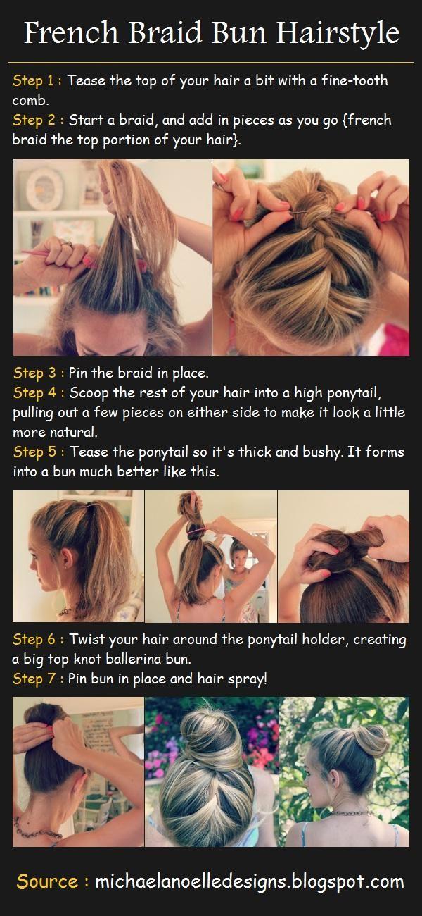 French Braided Bun Hair Tutorial | Hair and Beauty Tutorials