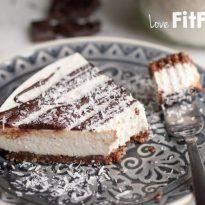 Paleo kokos cheesecake met pure chocolade - LoveFitFood