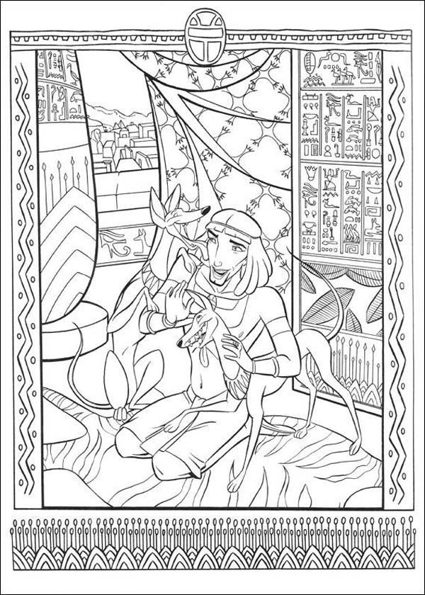 Ancient Egypt Mosaic Coloring Page - Download & Print ...