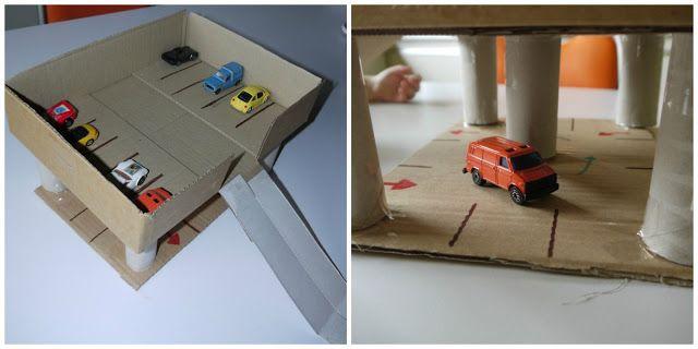 speelgoed garage van karton, by Villa Speelmama